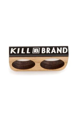 Kill Brand Wooden Two Finger Ring