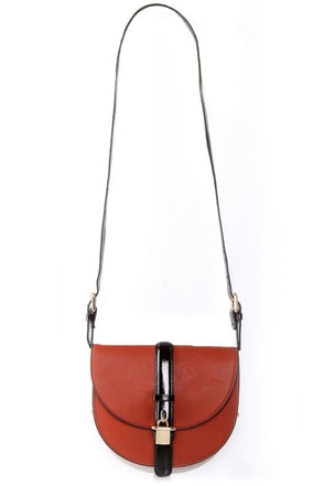 Melie Bianco Allie Burnt Orange Purse