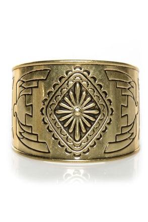 Fortunate Sun Gold Cuff Bracelet