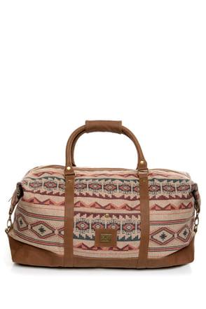 Obey Sierra Southwest Print Duffel Bag