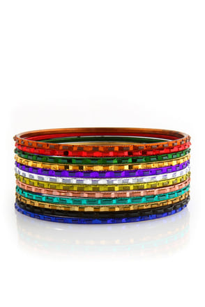 Tzigane Music Rainbow Bangle Set