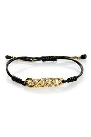 More Than Friends Black Friendship Bracelet