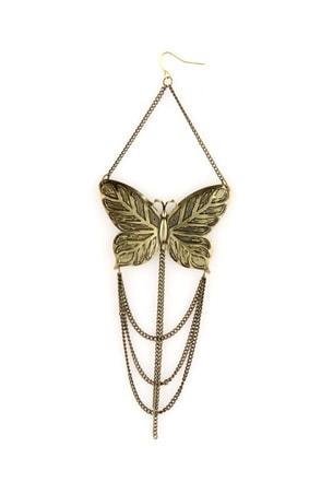 Winged Monarch Gold Butterfly Earrings