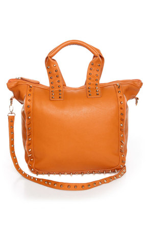 Bring Me Along Studded Orange Tote