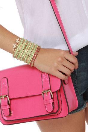 Ooh La Luxe Mint Green Stretch Bracelet