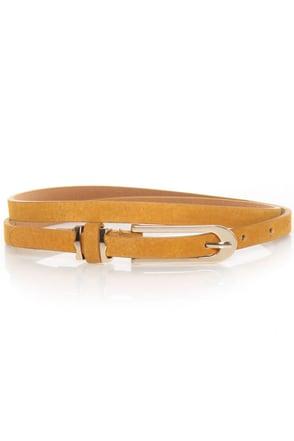 Silynna Yellow Skinny Belt