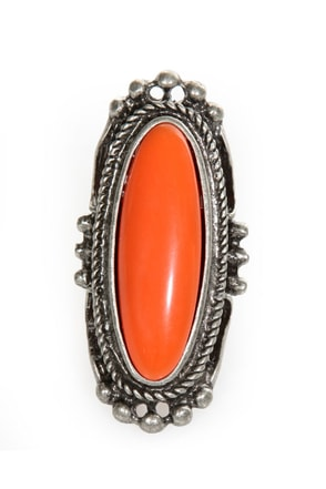 Don't Be Shy Orange and Silver Ring