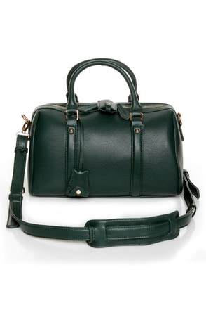On Lock Dark Green Handbag