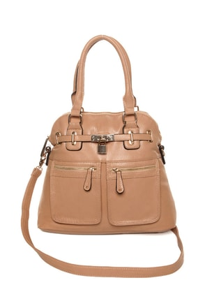 Turnkey Beige Handbag