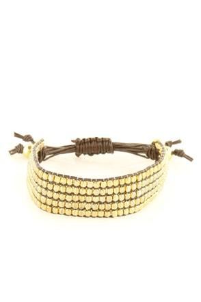 Zad Gold Beaded Bracelet