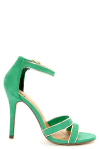 My Delicious Ruyi Jade Green Single Sole Dress Sandals at Lulus.com!