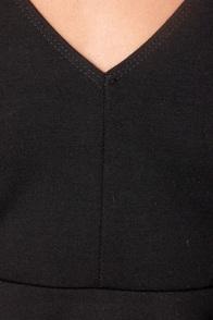 Pep'd Woman Black Peplum Top at Lulus.com!