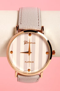 The Clock Stripes Twelve Grey Watch