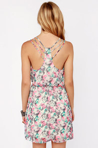 Caught Off Garden Neon Floral Print Dress at Lulus.com!