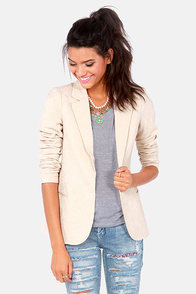 Refined-ers Keepers Embroidered Blush Blazer at Lulus.com!
