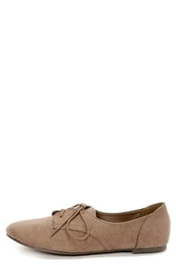 City Classified Desta Light Cement Lace-Up Oxfords at Lulus.com!