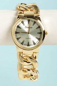 Time Chains Yellow Gold Watch