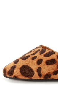 Bamboo Object 12 Leopard Print D'Orsay Pointed Flats at Lulus.com!