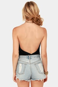 Lay Low Black Halter Top at Lulus.com!