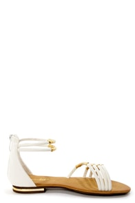 Bonzo 3 White and Gold Wrapped Strappy Gladiator Sandals at Lulus.com!