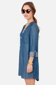 So Fresh and So Jean Denim Shirt Dress at Lulus.com!