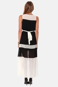 The Love Below Cream and Black Dress at Lulus.com!