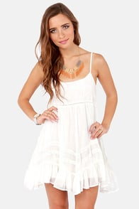 Billabong Sweet All Over Ivory Lace Dress
