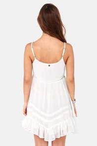 Billabong Sweet All Over Ivory Lace Dress at Lulus.com!