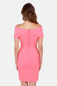 Meant to Be Off-the-Shoulder Pink Dress at Lulus.com!
