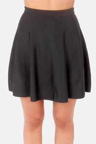 High and Mighty Black High-Waisted Skirt at Lulus.com!