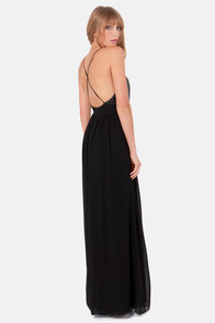 LULUS Exclusive Midnight Rider Black Maxi Dress at Lulus.com!