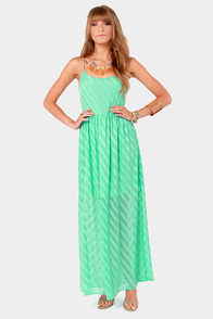 Water's Edge Mint Green Maxi Dress at Lulus.com!