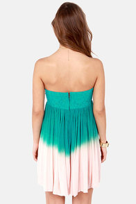Tango on the Terrace Strapless Teal Ombre Dress at Lulus.com!