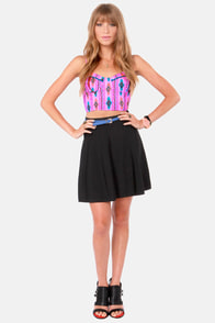 On Route 66 Orchid Purple Print Bustier Top at Lulus.com!