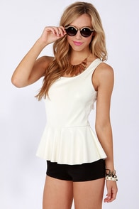 Rock and Rule Black and White Romper at Lulus.com!
