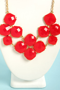 Jewel-cy Fruit Red Statement Necklace at Lulus.com!