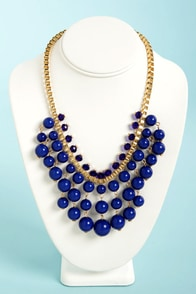 Berry Patch Royal Blue Statement Necklace at Lulus.com!