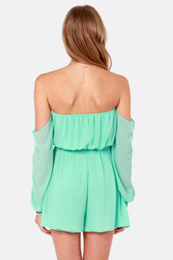 LULUS Exclusive Sheer-y Bomb Mint Green Romper at Lulus.com!