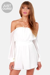 LULUS Exclusive Sheer-y Bomb Ivory Romper at Lulus.com!