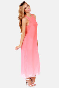 Far and Ombre Coral Pink Maxi Dress at Lulus.com!