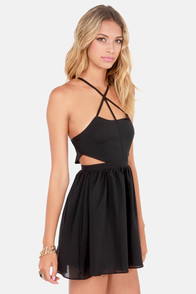 Wild Side Cutout Black Dress at Lulus.com!