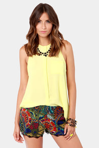 Lucy Love St. Lucia Multi Print Shorts at Lulus.com!