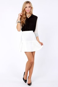Aryn K Flare-ing Contest Ivory Trumpet Skirt at Lulus.com!