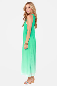 Far and Ombre Mint Green Maxi Dress at Lulus.com!