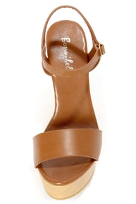 Hottie 2 Tan Platform Wedge Sandals at Lulus.com!