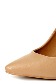 Privileged Lavish Nude Silver Heeled Pointed Pumps at Lulus.com!