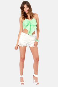 Reverse Tiki Lounge Strapless Mint Bustier Top at Lulus.com!