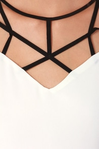 The Social Net-Work Black and Cream Dress at Lulus.com!