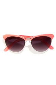 Cupcake Coral Pink Sunglasses at Lulus.com!