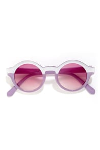 Ulta Silver and Lavender Sunglasses at Lulus.com!
